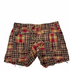 Free People madras distressed shorts size 4
